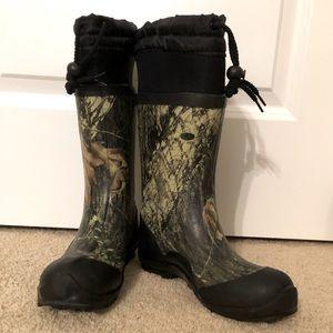 Kids Itasca Mossy Oak Waterproof Boots Size 3